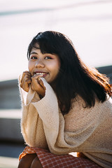 Zuzu (KamrenB Photography) Tags: kamgtr kamrenb portrait portraiture orange dress girl smile asia thailand asian chiang mai chiangmai smiling bokeh canon 6d evening