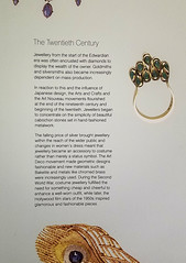 Museum Placard: History of 20th Century Jewelry (Suni Lynn Lee) Tags: ulster museum belfast art history jewelry