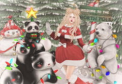 Late Xmas (Gabriella Marshdevil ~ Trying to catch up!) Tags: sl secondlife limerence cute kawaii doll yokai girlpower arcade blackbantam catwa bento