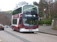 Lothian 1015 northbound on Kilgraston Road, Edinburgh. (calderwoodroy) Tags: eclipsegemini2 wrightbus b9tl volvo lothianbusescentenary 1015 service41 edinburghtransport transportforedinburgh lothianbuses doubledecker bus kilgrastonroad grange edinburgh scotland