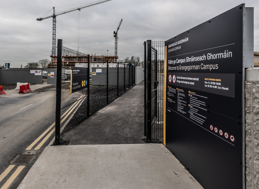 LIMITED ACCESS TO THE GRANGEGORMAN CAMPUS EAST-WEST CYCLE PATH [GRANGEGORMAN STATION AND LUAS TRAM STOP]-147398