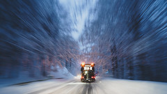 a short story grom behind the wheel (ignacy50.pl) Tags: snow snowing winter frozen cold road snowplow longexposure mountains