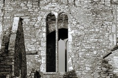 Passing of time (beatawozniak1968) Tags: window wall old texture architecture monochrome bw deterioration aged monastery
