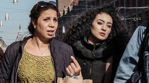 Amsterdam, Center, Hair, Mother&Daughter, Netherlands, Street