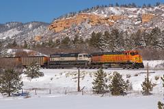 BNSF 5726 Palmer Lake 13 Jan 19 (AK Ween) Tags: bnsf bnsf5726 ge generalelectric es44ac ac4400cw preproduction palmerlake colorado jointline train railroad gevo