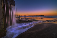 La Jolla Waterfall (HansenPrime) Tags: scripps scrippspier pier sunrise reflection morning beach sand water ocean pacific lajolla california sky landscape tide waves nature colorful sandiego waterfall