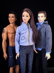 Twilight (honeysuckle jasmine) Tags: barbie jacob edward bella dolls doll breakingdawn eclipse newmoon twilight