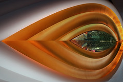 Golden Eye (HWHawerkamp) Tags: orange abstract perspective geometry shapes gold golden eye dubai burj al arab