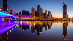 Brisbane City Pano (tony.liu.photography) Tags: brisbane city landscape cityscape dawn panorama pano water reflection longexposure canon 5d4 1635lf4is nisi grad nd filter queensland australia