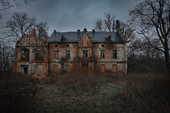 empty home (jkatanowski) Tags: urbex urban exploration europe poland outdoor architecture house mansion clouds dark creepy mood trees abandoned forgotten derelict decay closed sony a7m2 1740mm