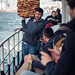 Simitçi (simit seller) on the ferry, Istanbul