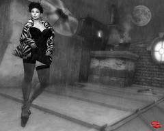 RAINING IN MY HEART (Rachel Swallows Inworld Elenamicheals Core) Tags: treschic fashion lsr stockings furcoat paris secondlife