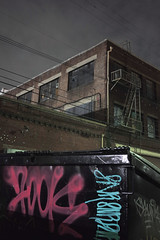 Dumpster foreground (ADMurr) Tags: vertical leica m0004376 la eastside night 35mm zeiss zm 28