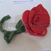 """""""Bright Rose with Stem"""" by Roxanne G, ceramic, $25.00"""