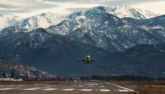 Scenic Take Off (free3yourmind) Tags: batumi georgia adjara airport plane airplane mountain mountains scenic takeoff departure snow travel air