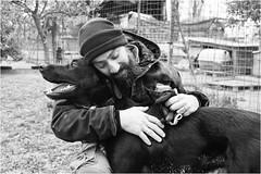 lovers (andaradagio) Tags: andaradagio bianconero bw canon dog cane miglioramicodelluomo nadiadagaro rifugioohana bandaa4zampeumbria littledoglaughednoiret
