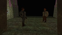 Conversing With Young Man (Platemail) (BarricadeCaptures) Tags: kingsquest kingsquestmaskofeternity maskofeternity undergroundrelamofthegnomes underground undergroundtunnel tunnel chamberofenlightenment connor connorofdaventry chainmail platemail youngman gamescreenshots gamephotography videogame screencapture screenshot