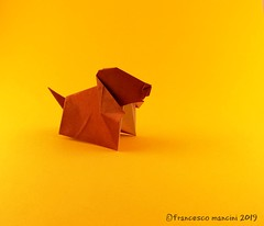 Puppy (mancinerie) Tags: origami paperfolding papiroflexia papierfalten francescomancini mancinerie origamidog