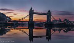 Tower Bridge Reflections (_Jon Benham_) Tags: tower bridge london towerbridge reflection sunrise dawn river thames lights cloud lowlight longexposure