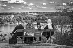 On a bench at Skansen, Stockholm Sweden 15/8 2017. (photoola) Tags: stockholm skansen djurgã¥rden bã¤nk sv monochrome djurgården bänk blackandwhite photoola bench street