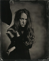 """Angélique"" (patrickvandenbranden) Tags: wetplate ambrotype collodion portrait woman alternativeprocess glassplate blackandwhite monochrome"