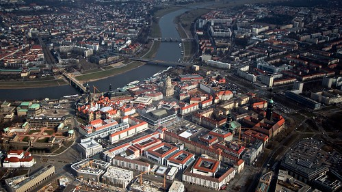 Dresden - Dresden Old Town, from above