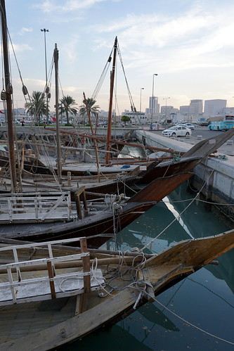 Dhows in Doha Harbour - Qatar