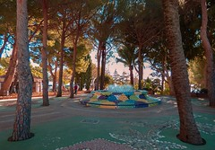 Mijas (lauracastillo5) Tags: mijas malaga city cityscape park street garden morning light outdoors blue colors trees nature natural fountain green water