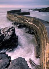 Collieston Harbour (PeskyMesky) Tags: aberdeen aberdeenshire collieston collagebounds longexposure scotland landscape water sea ocean rock canon canon5d eos