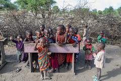 Maasai Village Children (Jill Clardy) Tags: africa tanzania vantagetravel safari 201902199l8a7906 maasai children village school preschool toddlers candy happy treats tribe tribal