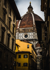 Duomo (Explored 3.3.19) (Matthew Johnson1) Tags: 2019 building cathederal church colour duomo february florence iconic italy red street vibrance yellow blue religion explored explore