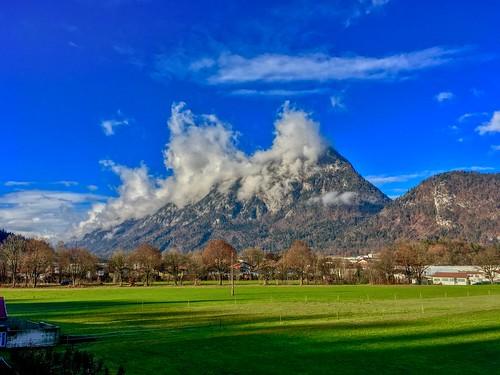 Pendling mountain in the clouds near Kufstein, Tyrol, Austria