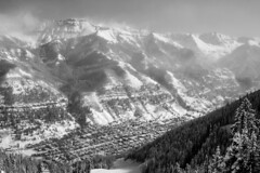 Township of Telluride (.enKay) Tags: telluride travelphotography travel travelling canon60d canon vacation landscape mountains towns trees sky cloud ski skiing snowboarding blackandwhite bw black blackandwhitephotography blackwhite contrast clouds town unitedstates