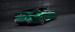 BMW M8 Gran Coupe (BayanAsghar) Tags: bmw gran coupe m8 3dsmax modeling 3dmodel corona coronarenderer automotive back view studio render