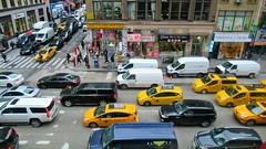Big Yellow Taxi (Robert Saucier) Tags: newyorkcity newyork nyc manhattan rue street pavement taxi img3523 jaune yellow