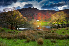 Loughrigg (snowyturner) Tags: loughrigg cumbria lake district fell tarn hills landscape reflections houses trees autumn