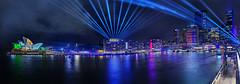 Crown of Light (John_de_Souza) Tags: johndesouzacrownoflightvividsydney2018 panorama nightpanorama laserlight sonya7rii