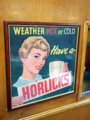 Have A Horlicks (the justified sinner) Tags: justifiedsinner horlicks old sign cafe brucciani deco morecambe lancashire seaside winter town panasonic 17 20mm gx7