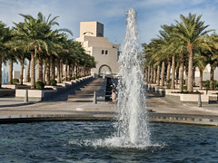 Museum of Islamic Art - Doha, Qatar (fisherbray) Tags: fisherbray qatar stateofqatar دولةقطر dawlatqatar addawhah addawha addōḥa doha الدوحة google pixel2 museumofislamicart متحفالفنالإسلامي museum mia brunnen fountain