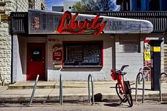 Liberty (Jim Nix / Nomadic Pursuits) Tags: jimnix nomadicpursuits austin liberty bar pub eastsixthstreet 6thstreet sonya7ii sony 35mm samyang35mmf28 cityscape streetscene luminar skylum