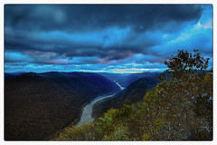 Cloudy  Dawn (Ted Bowman Photography) Tags: canon1635f4l clouds sky sunrise newrivergorge westvirginia