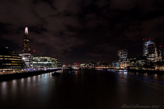 Bridge View (muppet1970) Tags: london theshard walkitalki hmsbelfast londonbridge riverthames water longexposure night afterdark