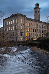 New Mill - Saltaire (Cptal) Tags: yorkshire saltaire rivers bradford water dusk riveraire