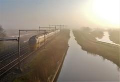 Misty Morning Train (Peter ( phonepics only) Eijkman) Tags: zaandam zaanstad zaan zaanstreekwaterland nederland netherlands nederlandse noordholland ns nederlandsespoorwegen virm spoorwegen spoor rail rails railways railway treinen trein tren trains train