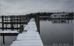 Snow on Toms River (scottnj) Tags: 365the2019edition 3652019 day18365 18jan19 snow dock pier scottnj tomsriver scottodonnellphotography ice cold river clouds winterweather winterstorm snowstorm