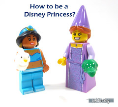 How to be a Disney Princess? (WhiteFang (Eurobricks)) Tags: lego minifigures cmfs collectable walt disney mickey characters licensed design personality animated animation movies blockbuster cartoon fiction story fairytale series magic magical theme park medieval stories soundtrack vault franchise review ancient god mythical town city costume space