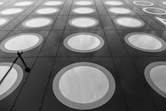 Squared Circle (CoolMcFlash) Tags: squaredcircle flickrfriday geometry architecture bw blackandwhite blackwhite monochrome pattern texture facade circle fujifilm xt2 contrast square geometrie architektur building sw schwarzweis kreis muster textur fassade kontrast fotografie photography xf18135mmf3556r lm ois wr vienna wien spiegelung reflection window fenster squaredance