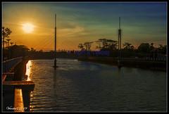 Another sunset (VERODAR) Tags: sunset river sky sunlight evening eveninglight bridge kotatinggi trees reflection nikon verodar veronicasridar