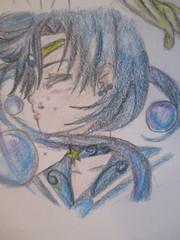 I decided to be artsy (jasakhan10) Tags: sailormoon mercury art drawing character girl anime manga blue