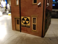 FALLOUT SHELTER (Set and Centered) Tags: ho scale rix products smalltown usa custom structure local business small model railroad railroading military surplus 187 johns place
